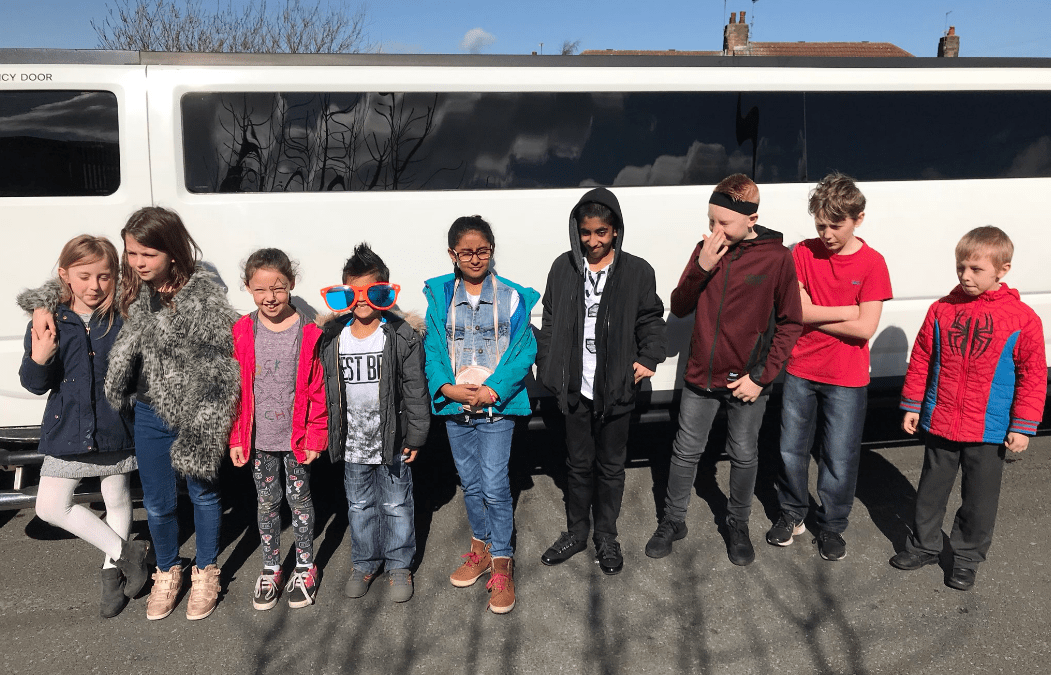 Times Tables Rock Stars enjoy ride in limousine
