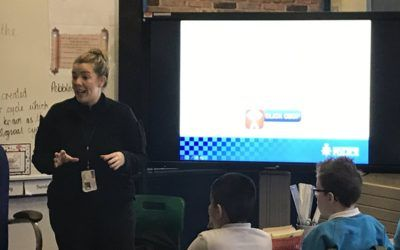 Pupils learn how to stay safe online